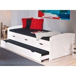 Praktická jednolůžková postel ULLI 90x200 borovice s úložným prostorem