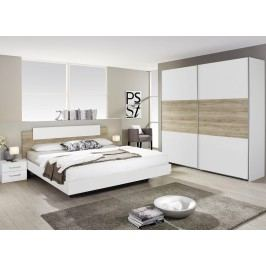 Moderní bílá ložnicová sestava BORBA dekor dub