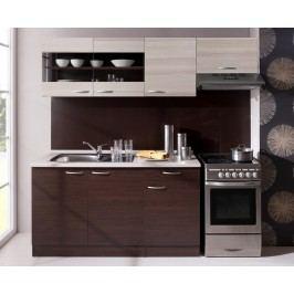 Moderní hnědá kuchyňská linka x-ALEN 210 A (405440) jasanová