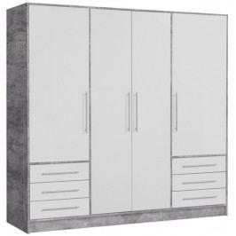 Jupiter, 207 cm, šedý beton/bílá