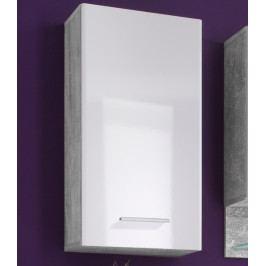 Barolo, imitace šedý beton/lesklá bílá