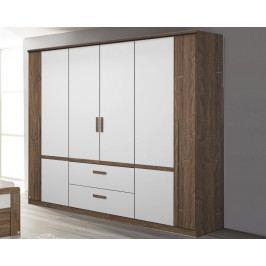 Bernau, 226 cm, dub stirling/bílá, otočné dveře