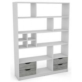 Sten 2, bílý/šedý beton