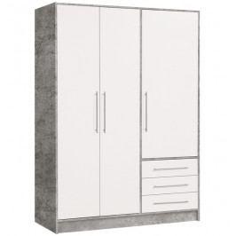 Jupiter, 145cm, šedý beton/bílá