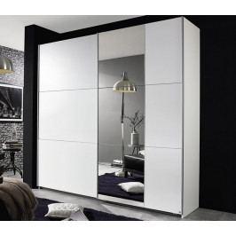 Kronach, 175 cm, bílá/zrcadlo