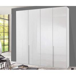 New York D, 180 cm, bílá/bílý lesk