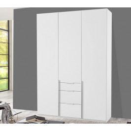 New York D, 135 cm, bílá/bílý lesk