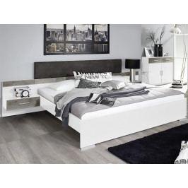 Penzberg 160x200 cm, bílá/beton
