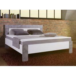 Jule 140x200 cm, bílá/šedý beton