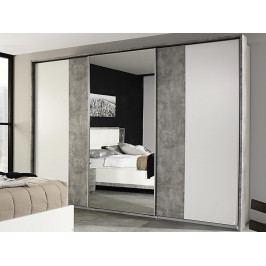 Siegen, 271 cm, bílý/šedý beton