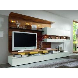 Obývací stěna FELINO dub medový/bílý lak