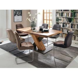 Jídelní set pro 6 osob - stůl MENDOZA B + židle BAKU