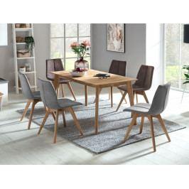 Jídelní set pro 6 osob - stůl EYSKE + židle SANNE 1