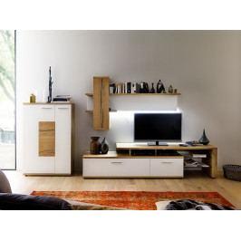 Nábytek do obývacího pokoje NIZZA II dub přírodní/bílý lak