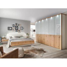 Moderní ložnice CHICAGO 2 alpská bílá/dub