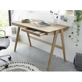 Dřevěný psací stůl DELIA dub sukatý