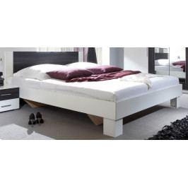 Manželská postel s nočními stolky Vera boc - bílá-černý ořech 160x200