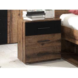 Noční stolek BETA ořech/černá