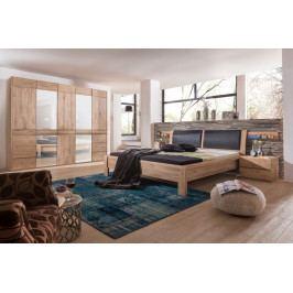 Dubová ložnice z masivu OTAVA bělený dub