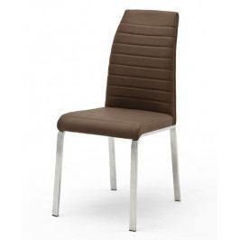 Moderní jídelní židle FLORES A ekokůže hnědá