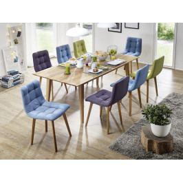 Jídelní sestava stůl  plus  8 židlí MAX dub divoký - skandinávský design