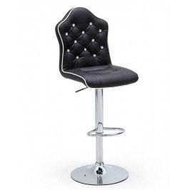 Barová otočná židle DIAR ekokůže černá