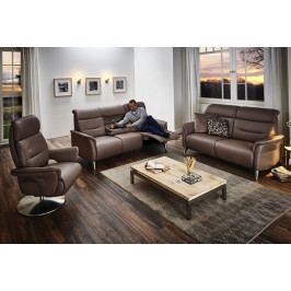 Luxusní kožená sedací souprava s funkcí relax 3 plus 2,5 plus TV křeslo ARKADIA