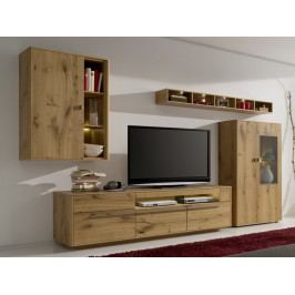 Obývací stěna PIANA dub medový