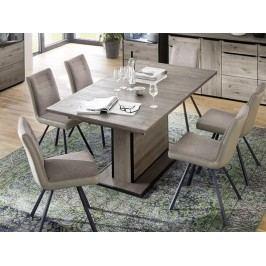 Jídelní rozkládací stůl z masivu AVIGNON 180 (280)x100 dub sukatý/šedá typ 60