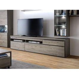 Televizní komoda z masivu AVIGNON dub sukatý/šedá typ 31
