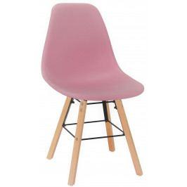 Skandinávská jídelní židle VIGO růžová