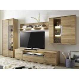 Nábytek z masivu do obývacího pokoje LAURA dub bělený