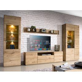 Dubový nábytek z masivu do obývacího pokoje a jídelny - DALLAS 5 dub olejovaný