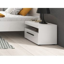 Noční stolek TULSA bílá/bílý lesk