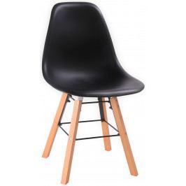 Skandinávská jídelní židle VIGO černá