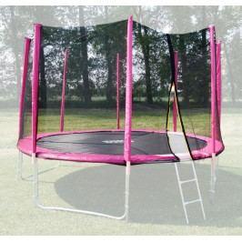 GoodJump Ochranná síť na trampolínu 366 cm - PVC - na 8 trubek- růžová