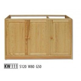 Kredenc KW111 masiv borovice