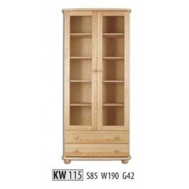 Vitrína KW115 masiv borovice