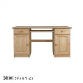 Psací stůl BR101 masiv borovice