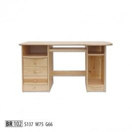 Psací stůl BR102 masiv borovice