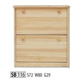 Botník SB116 masiv borovice