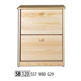 Botník SB120 masiv borovice