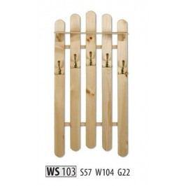 Věšák WS103 masiv borovice