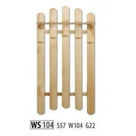 Věšák WS104 masiv borovice