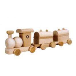 Dřevěná hračka vláček AD117