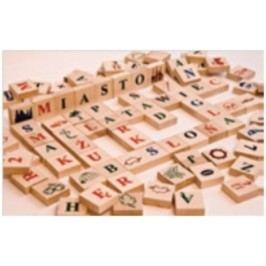 Dřevěná stavebnice písmenka AD406
