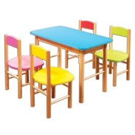 Dětská barevná židlička AD251 modrá