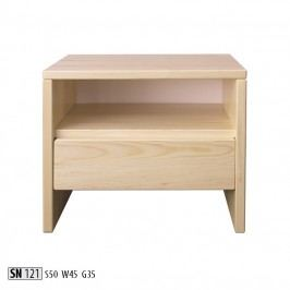 Noční stolek SN121 masiv borovice