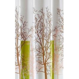 Sprchový závěs 180x180cm, polyester, bílá/zelená, strom