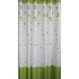 Závěs 180x180cm, 100% polyester, zelené listy